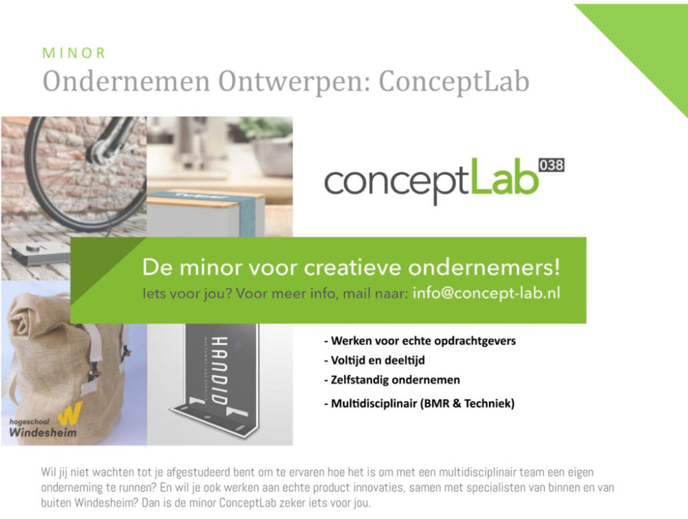 ConceptLab Windesheim Brochure BMR-1 foto deel